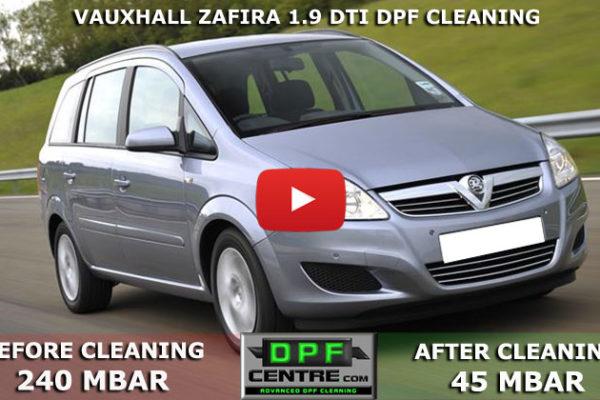 Vauxhall Zafira 1.9 DTI DPF Cleaning