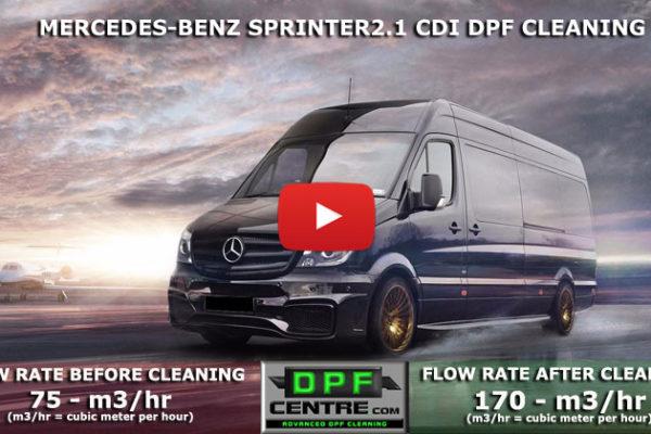 Mecedes-Benz Sprinter 2.1 CDI DPF Cleaning