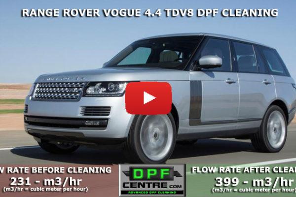 Rang Rover Vogue 4.4 TDV8 DPF Cleaning