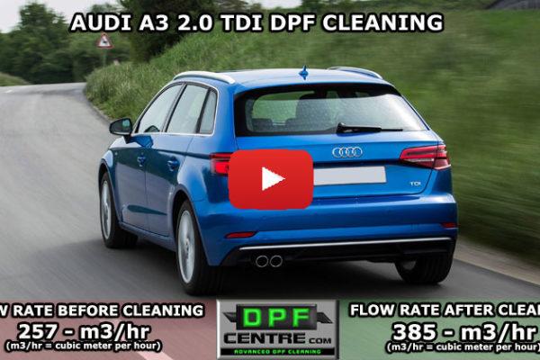 Audi A3 2.0 TDI DPF Cleaning