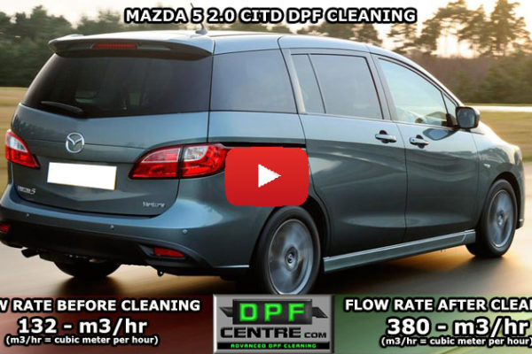 Mazda 5 2.0 CITD DPF Cleaning