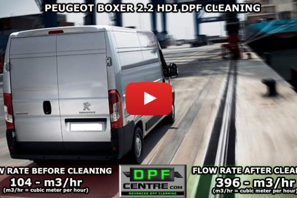 Peugeot Boxer 2.2 HDI DPF Cleaning