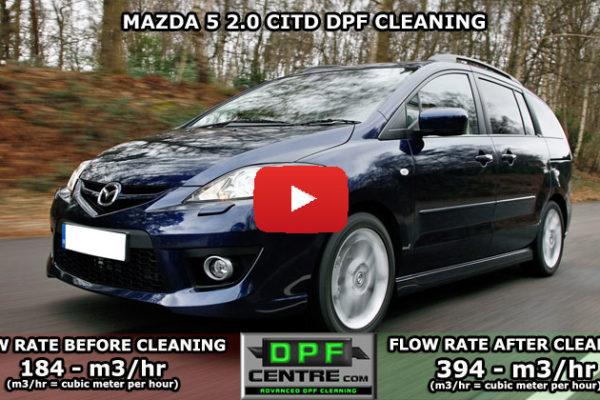Mazda 5 2.0 TDI DPF Cleaning