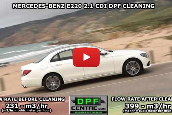 Mercedes-benz E220 2.1 CDI DPF Cleaning