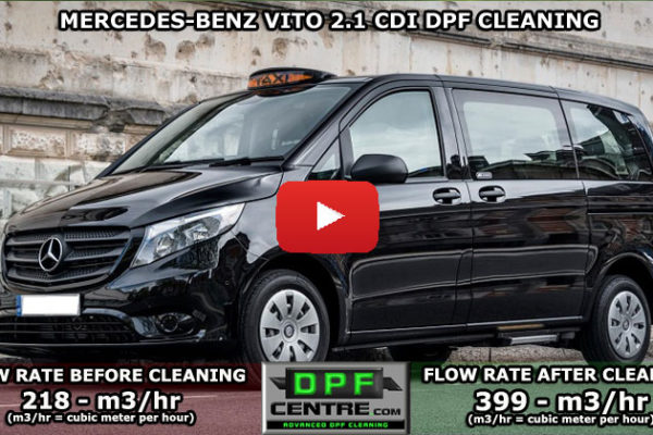Mercedes-Benz Vito 2.1 CDI DPF Cleaning