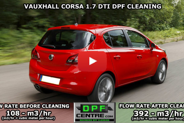 Vauxhall Corsa 1.7 DTI DPF Cleaning