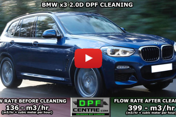 BMW X3 2.0 D DPF Cleaning