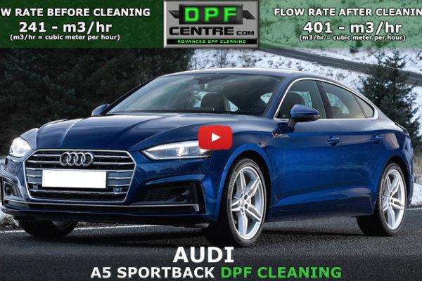 Audi A5 sportback 2.7 TDI DPF Cleaning