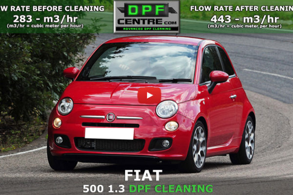 Fiat 500 1.3 MJET DPF Cleaning