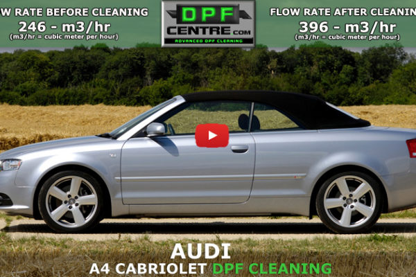 Audi A4 Cabriolet 2.0 TDi DPF Cleaning