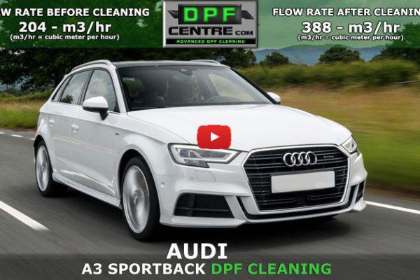 Audi A3 1.6 TDI DPF Cleaning