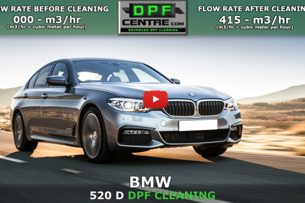 BMW 520D 2.0 DPF Cleaning
