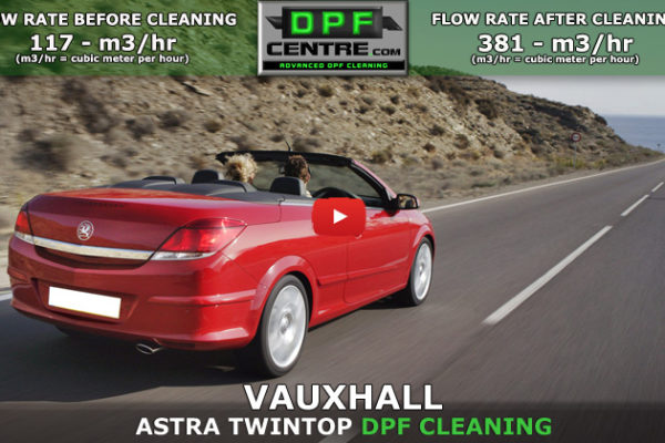 Vauxhall Astra Twintop 1.9 DTI DPF Cleaning