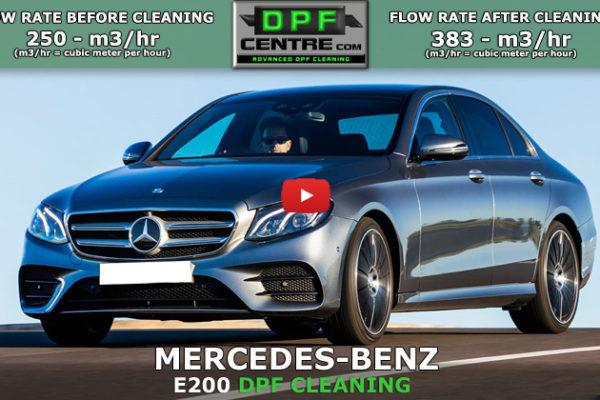 Mercedes-Benz E200 2.1 CDI DPF Cleaning